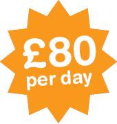 £80 pr day